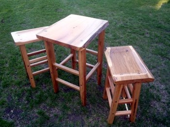 Table and stools for Higher Grounds Coffee Shop